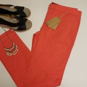 APC PANTS CORAL COLOR SIZE EU 38 inseam 31 1/4